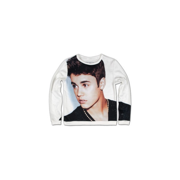 Justin Bieber Outerwear  | Justin Bieber Girls Sublimated Sweatshirt | Shop the Justin Bieber Official Store ($50) found on Polyvore