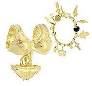 Berloque folheado a ouro em forma de biquíni (Pandora inspired)-Clique para maiores detalhes
