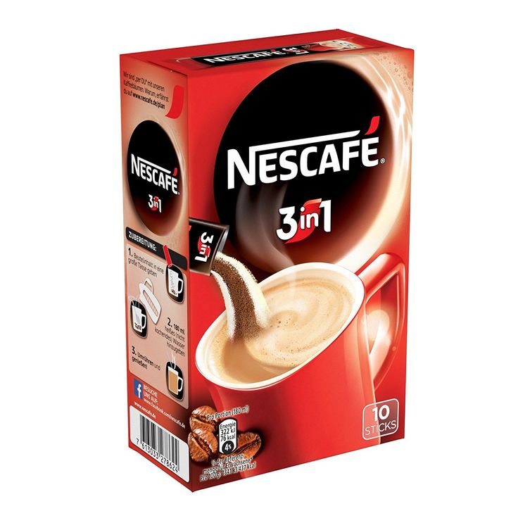Nescafé 3in1 Löslicher Kaffee, 10 Sticks, 175 g: Amazon.de: Amazon Pantry