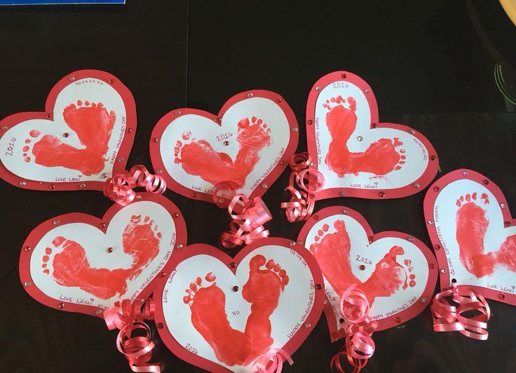 Footprint Valentine's Day cards