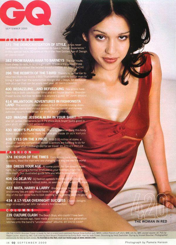 Una splendida ragazza in rosso per la copertina di GQ.