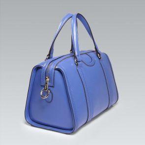 Skórzany kuferek błękit królewski
