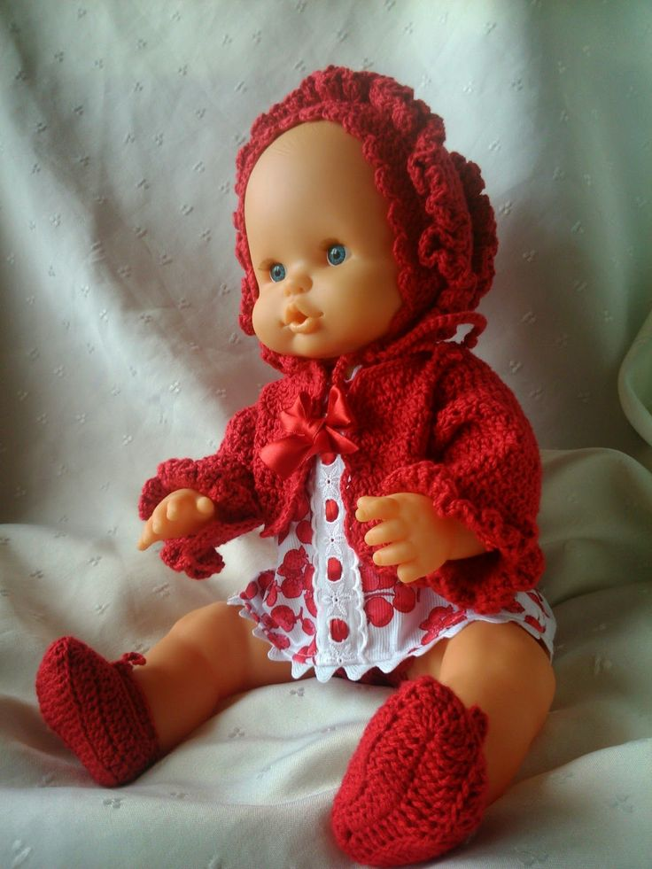 coser es fácil...: ganchillo y tricot...anamary: nenucos...color rojo...