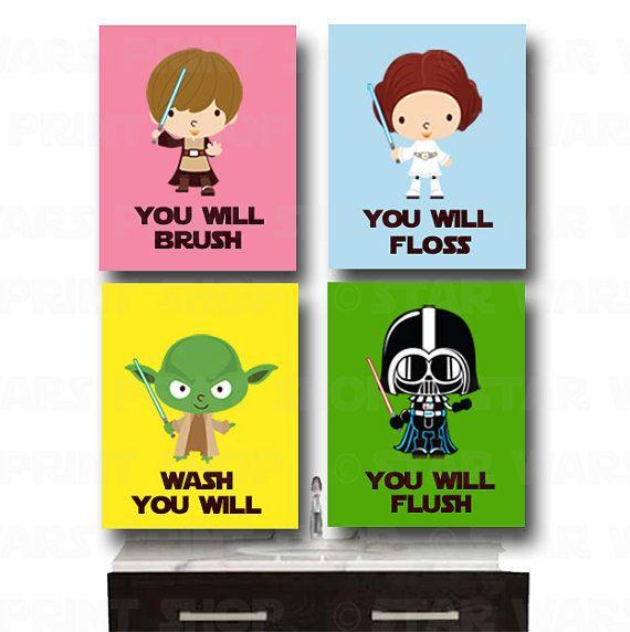 Star Wars Bathroom Wall Art  Jedi Mind Trick  by HeartworkMemories, $32.00