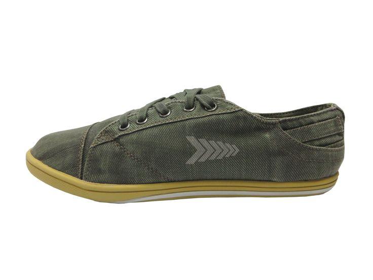 Calzado In2Go - Ref: CPD OVD Green.  Tipo ten. Montado en Calzado Femenino - Acabado Unisex. Disponible en tallas  Masculino del 37 al 42 y Femenino del 34 al 40.