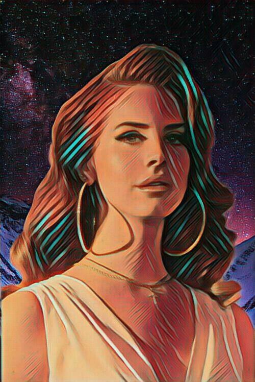 Lana, galaxy and retro