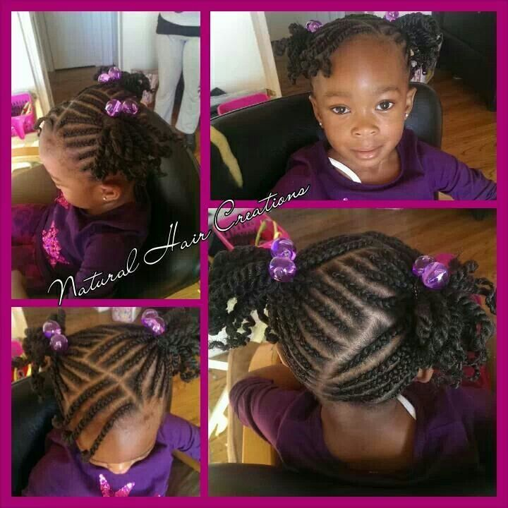 Admirable 1000 Images About Natural Kids Pig Ponytails On Pinterest Two Short Hairstyles For Black Women Fulllsitofus