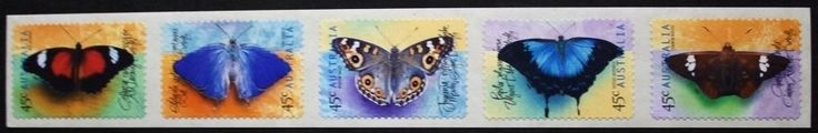 Butterflies stamps/self adhesive stamps, 1998, Australia, SG ref: 1810-1814, MNH