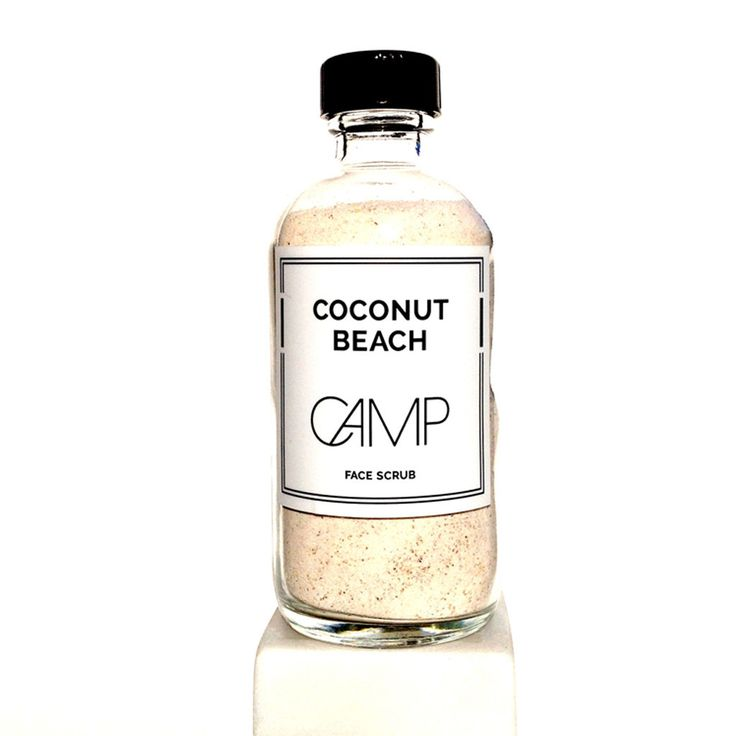 Coconut Beach Face Scrub by CAMP Skincare