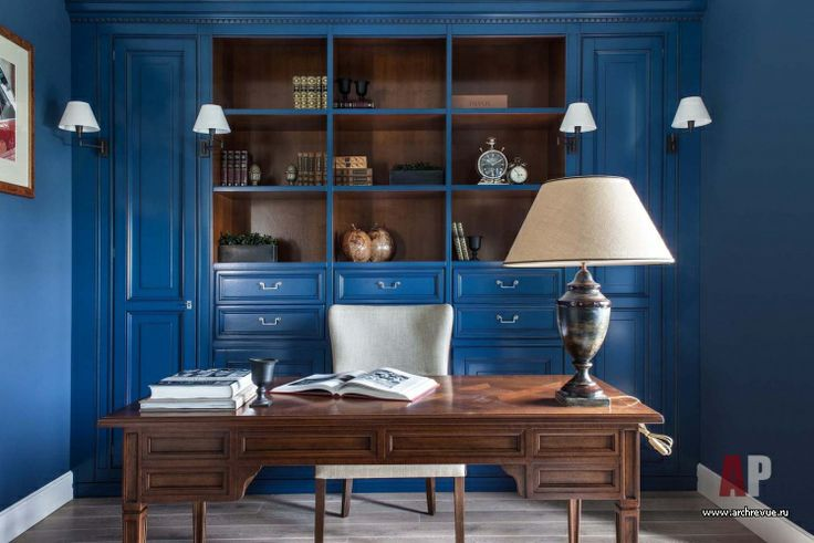 Дизайн интерьера квартиры цвета кобальта и бирюзы в стиле фьюжн | Apartment interior design cobalt blue and turquoise fusion