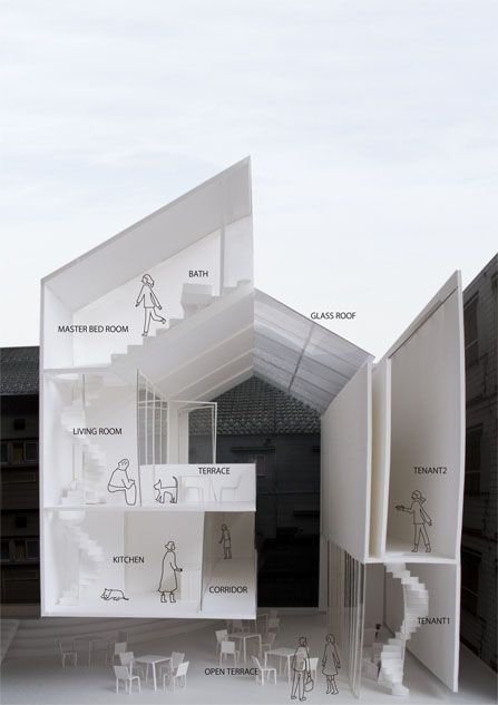 Tomokazu hayakawa architects architectural drawings for Apartment design models