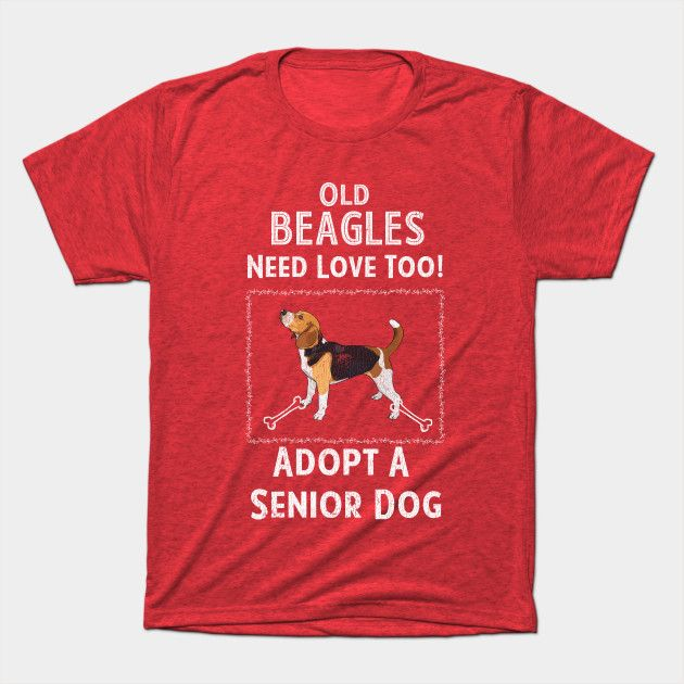 Senior Dog Adoption T Shirt For Beagle Dog Lovers Beagle T