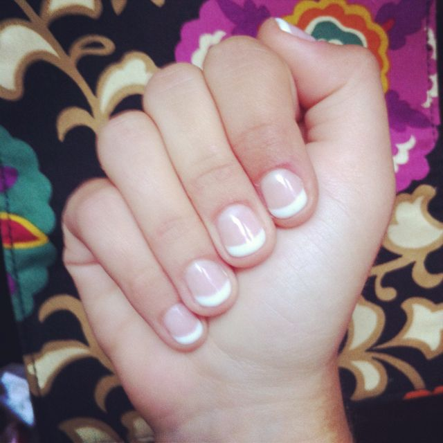 Gel french manicure :) | home decor | Pinterest