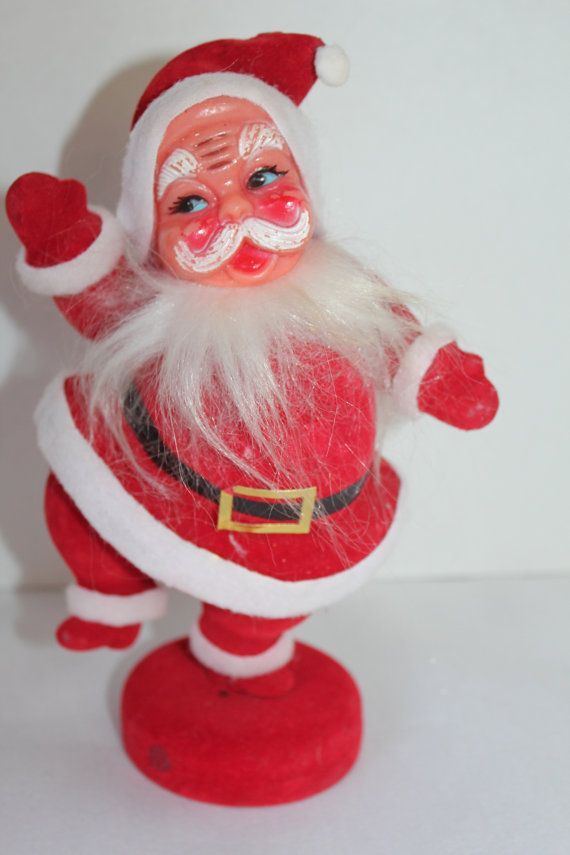 Vintage Santa Figurine 8 Tall 1960 Christmas by TalesofTime, $21.00