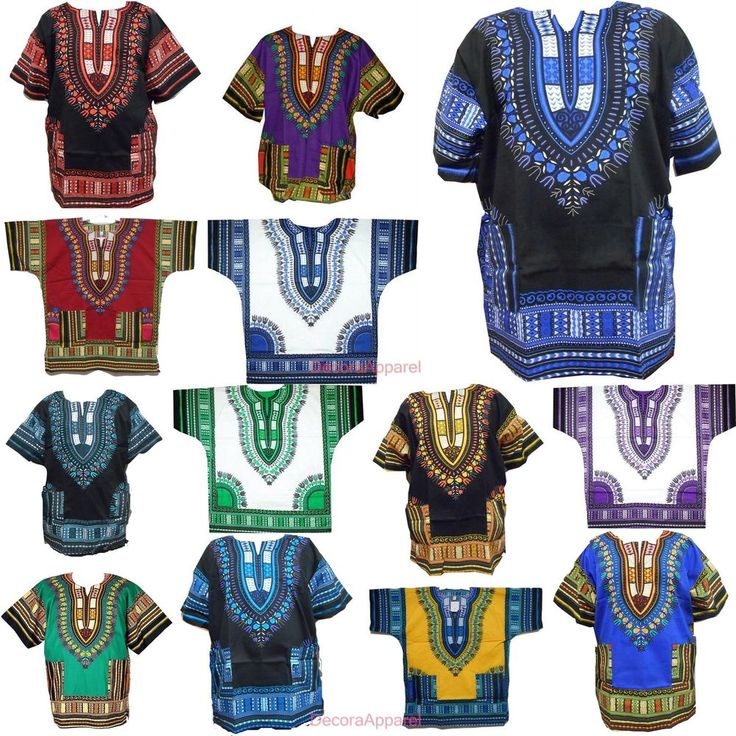 African Hippie Rasta Men Top Dashiki Blouse Tribal Shirt Wholesale Lot 20 Pieces #DecoraApparel #DashikiCasualShirt