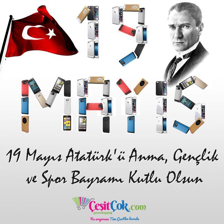 19 Mayıs Atatürk'ü Anma, Gençlik ve Spor Bayramımız Kutlu Olsun. www.cesitcok.com