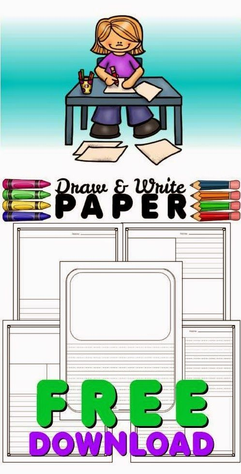 Draw and Write Paper FREE: Create short stories, use for morning work or writers workshop.