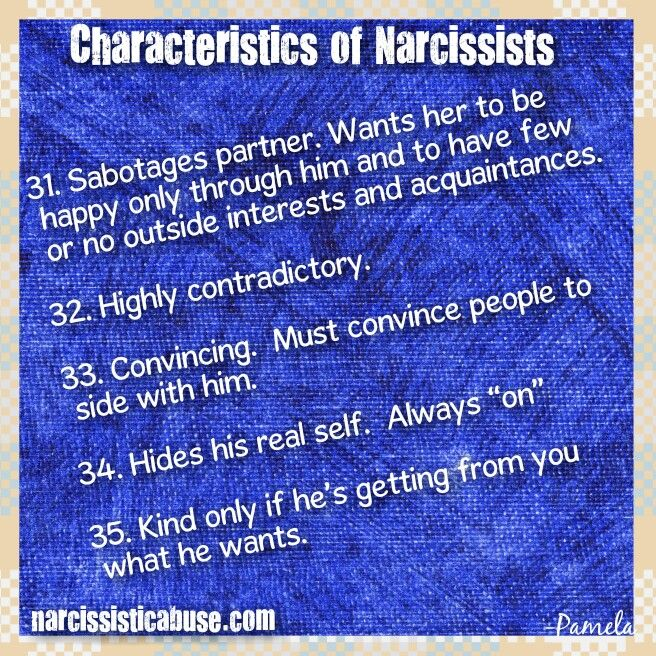 a report on the criteria and characteristics of narcissism Brief reports narcissism and eating characteristics in young nonclinical women joan nicola brunton, mbbs,† john hubert lacey, md,† and glenn waller, dphil.