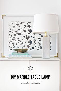 DIY Marble Table Lamp #theeverygirl #marble #diy