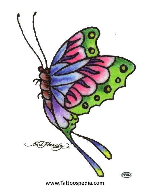 Ed Hardy Butterfly Tattoo Designs 1 - Tattoospedia