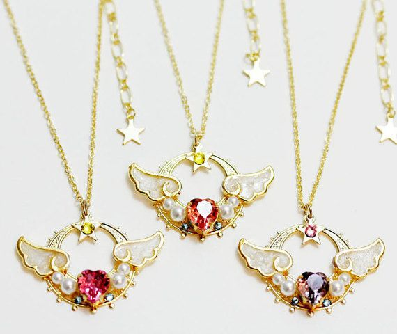 Sailor Moon Necklace  New Lovely Moon Princess Made by momomaguro