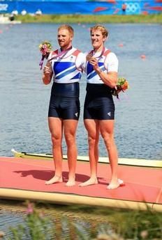 Will Satch and George Nash, winning bronze after an incredibly exciting final