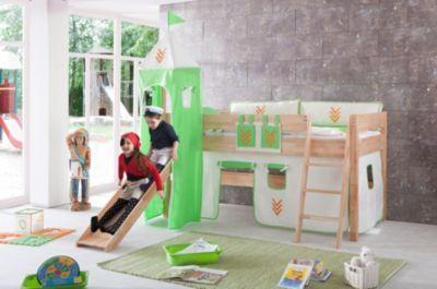 Relita Hochbett Kim aus Massivholz inkl. Stoffset natur/grün Jetzt bestellen unter: https://moebel.ladendirekt.de/kinderzimmer/betten/hochbetten/?uid=a6c39a79-5688-5ce5-b014-04e2d5a72259&utm_source=pinterest&utm_medium=pin&utm_campaign=boards #kinderzimmer #kleinkindmöbel #hochbetten #betten