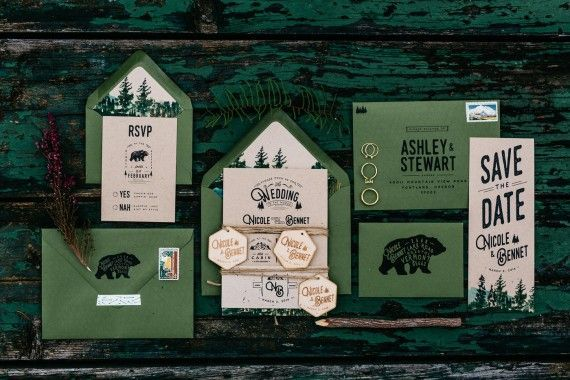 7 Amazing Rustic Wedding Invitations | by Wide Eyes Paper Co. | http://emmalinebride.com/rustic/invitations-rustic-weddings/