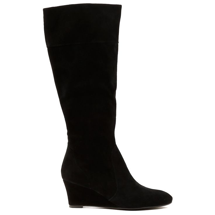 YOVITA by Top End. This fabulous boot can go straight to the winners podium! The luxe leather and suede styling on this knee high boot is a win-win. This boot will freshen up your winter wardrobe and will keep any look modern. 6cm heel. Leather upper, leather lining. Manmade sole.