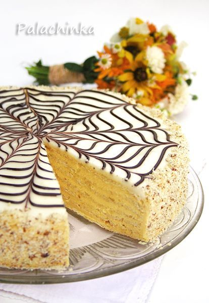 Esterhasy Torte on http://palachinkablog.com I'm going to make this one of these days...looks delish