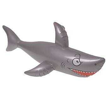 Inflatable Shark, Gray Inflatable Shark