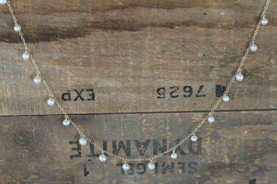 Collar de perlas de semilla de gota de por HandmadebyAnnePotter