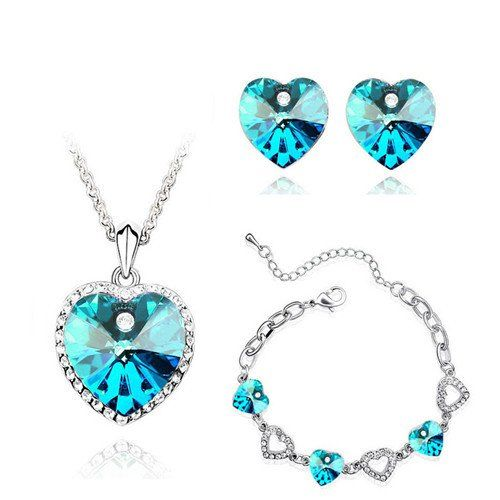 Grab it 3 in 1! Make your jewel easy! Boost up your style! Find the product at www.toucanshack.com #jewel_set #bracelet #studs #earrings #necklace #pendant #3_in_1 #style #blue #oceanish #heart_theme #pendant_love #stoned #extra_ordinary wear #antique #unique #collections #stylish #amazing daily_wear #jewellery #jewel_love #antique #rare_collections #toucan_shack