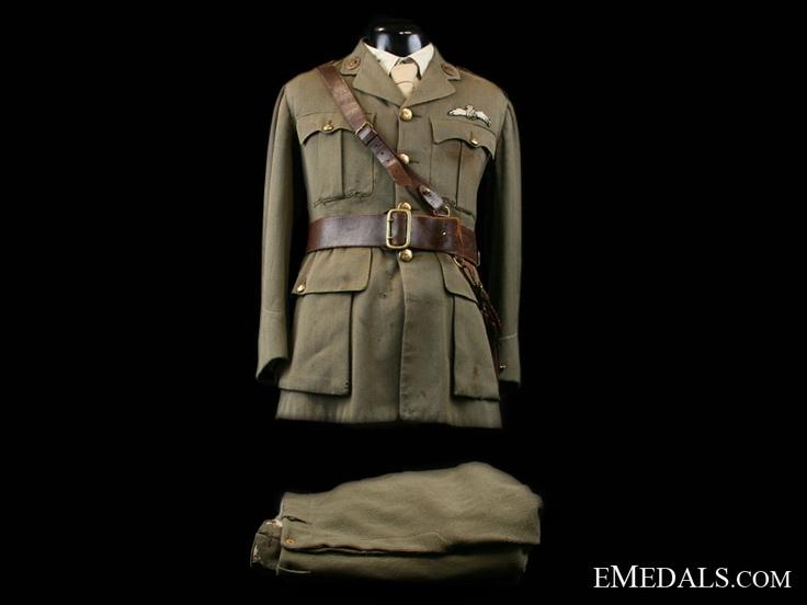 Royal Flying Corps Uniform to Canadian Fighter Ace Lt. John Henr