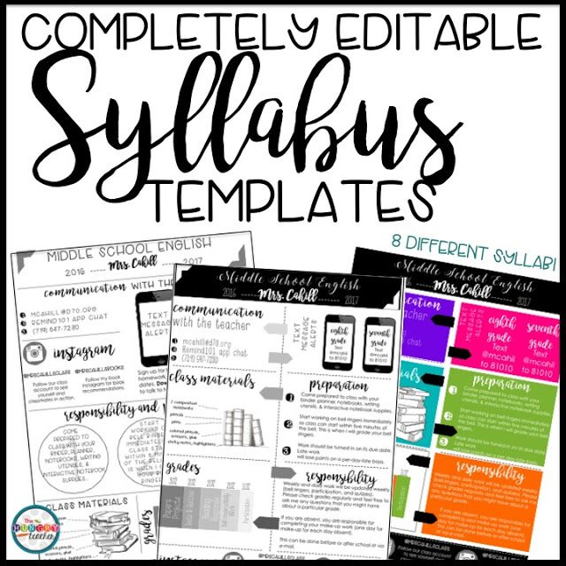 Best 25 syllabus template ideas on pinterest high for Create a syllabus template