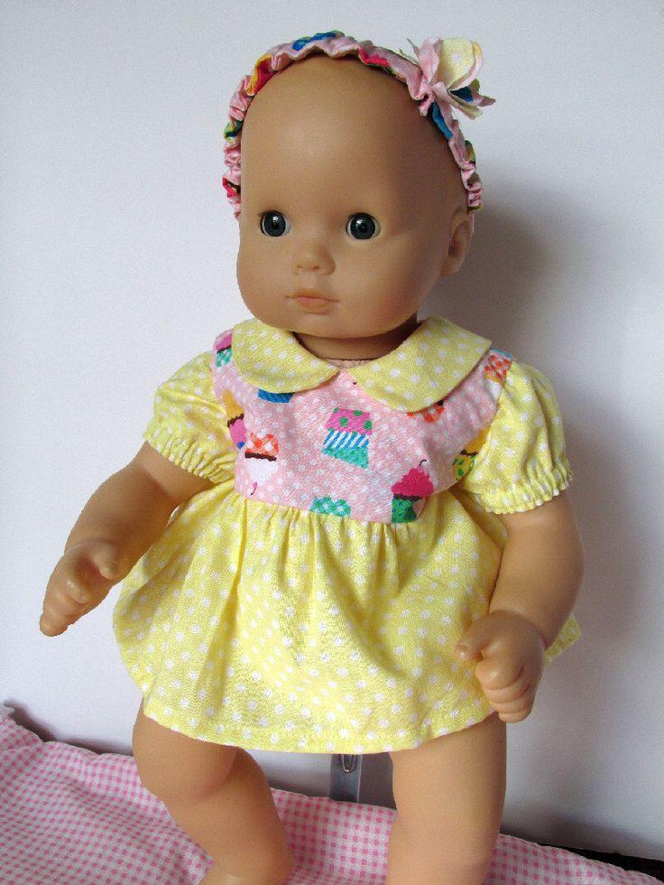 Baby Doll Dress 15 Inch Doll Dress Yellow Cupcake Doll