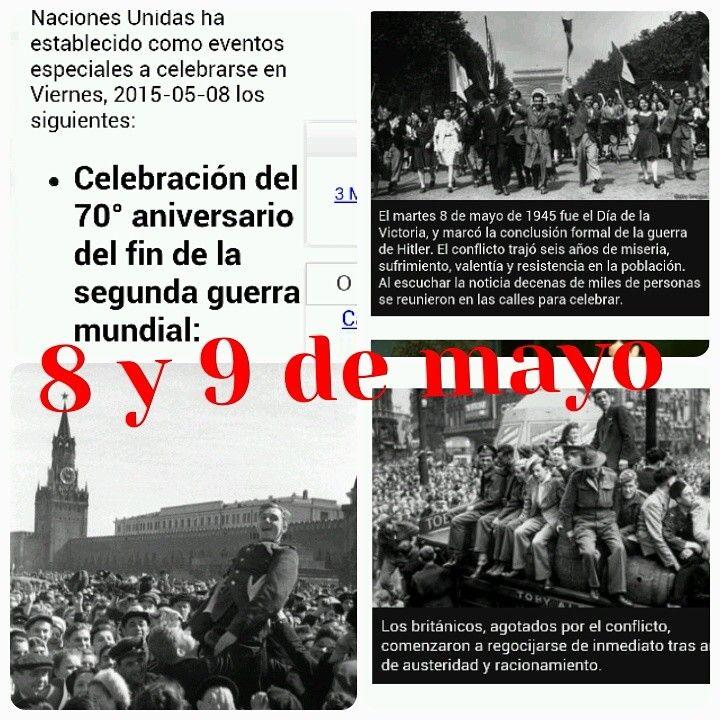 """Una ACLARACIÓN sobre el Día de la Victoria de la Segunda Guerra Mundial contra el Fascismo. """" El Día de la Victoria en Europa fue el 8 de mayo de 1945, fecha en la que los Aliados de la Segunda Guerra Mundial aceptaron la rendición incondicional de la Alemania nazi.  El Acta de rendición militar se firmó a las 23:01 horas y en Rusia ya éran 00:01 horas del DÍA 9 de Mayo del  año 1945. FELIZ DÍA DE LA VICTORIA HOY Y MAÑANA!!! EN MEMORIA A TODOS LOS VETERANOS QUE HAN HECHO GANAR Y SALVAR EL…"""