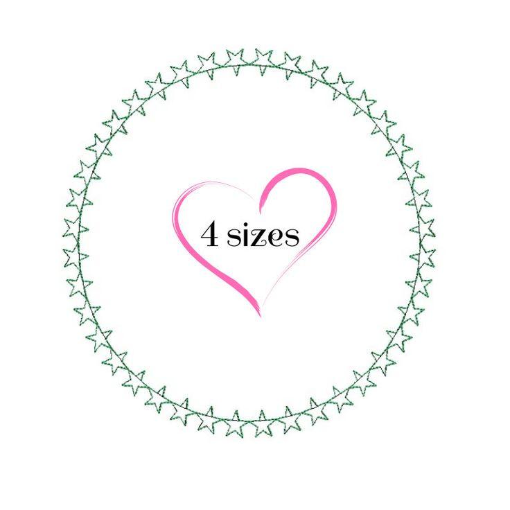 Circle frame monogram embroidery machine designs pes font