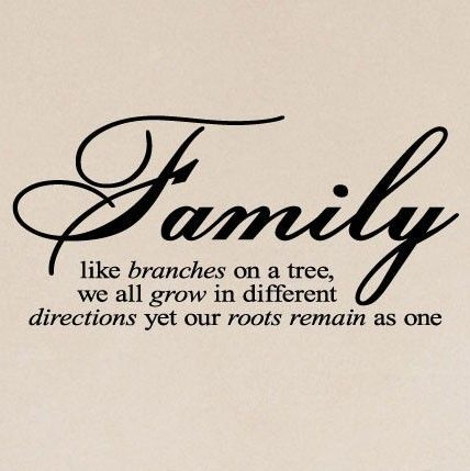 "Tattoo Ideas & Inspiration - Quotes & Sayings | ""Family. Like branches on a tree, we all grow in different directions, yet our roots remain as one"" 