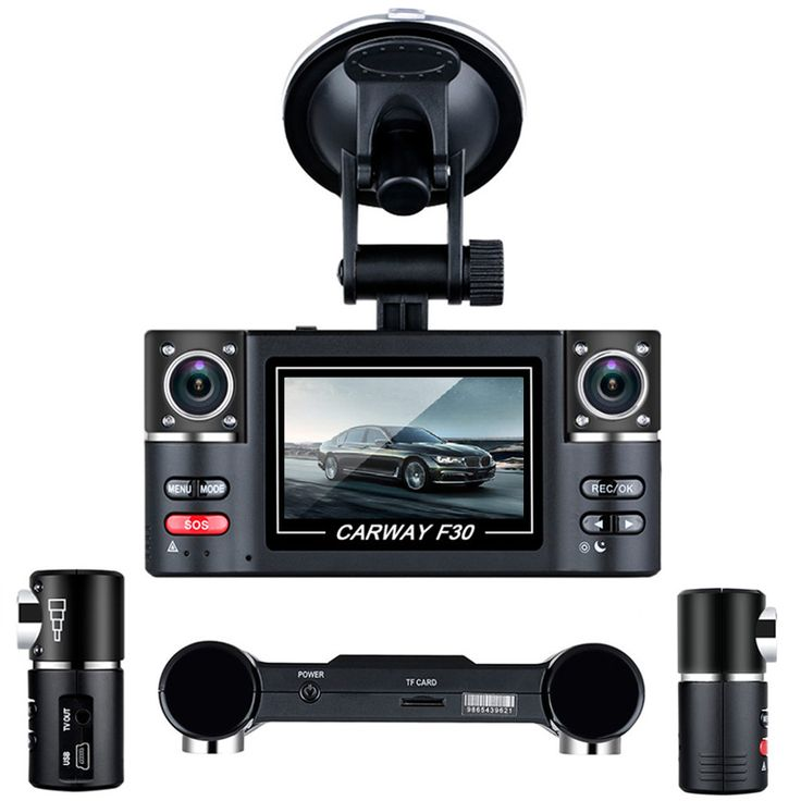 """Carway F30 Mobil DVR 2.7 """"TFT LCD HD 1080 P Dual Kamera lensa Diputar Kendaraan Mengemudi Perekam Video Digital Night Vision Camcorder"""