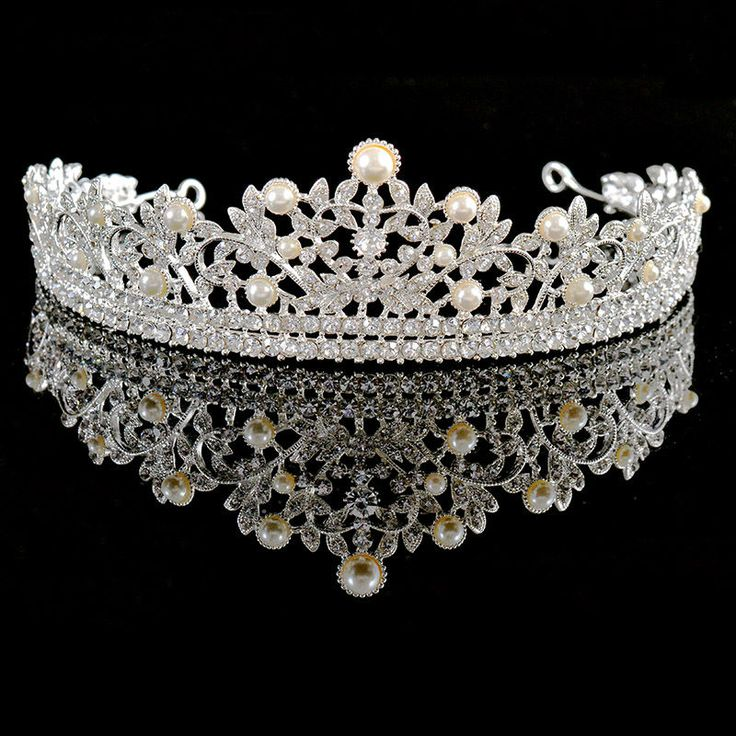 33 best tiaras and crowns images on pinterest tiaras and crowns aliexpress buy vintage austrian crystal pearl jewelry bridal tiaras wedding crown hairbands bling junglespirit Images