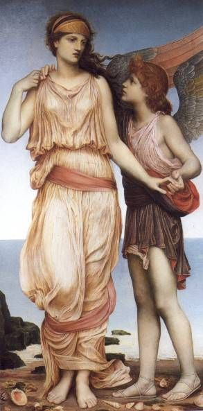 Venus and Cupid   Evelyn De Morgan  1878  (pin up girls' skirts for early scenes/childhood?)