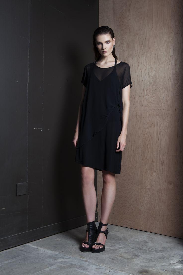Double Dare Dress  #layers #dress #black #summer #nzfashion #companyofstrangers