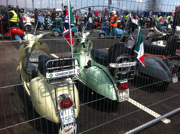 An extraordinary success for Vespa World Days 2012: more than three thousand enthusiasts representing 780 Clubs from all over the world rode into London on their Vespa scooters.  Groups from as far away as Canada and Argentina. The 2013 rally to be held in Hasselt, Belgium.