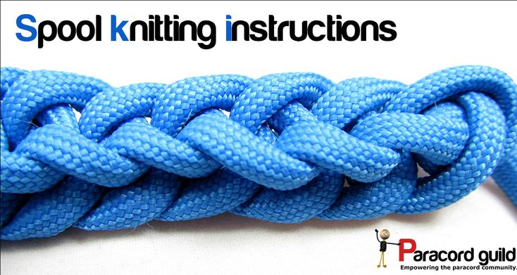 Knitting Knots Rolde : Paracord spool knitting instructions knots