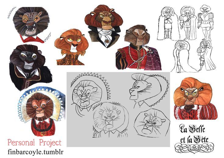 Character exploration for a new illustration. Based on Jean Cocteau's classic!