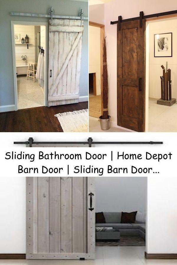 Sliding Bathroom Door Home Depot Barn Door Sliding Barn Door System In 2021 Sliding Bathroom Doors Home Decor Bathroom Doors