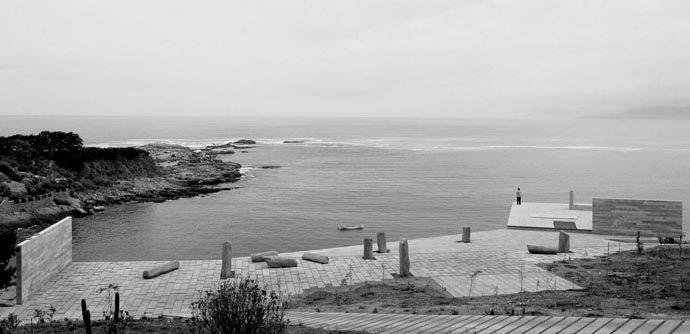 Casa Pite, Chile, Smiljan Radic, linear volumes, cliff, swimming pool, edge