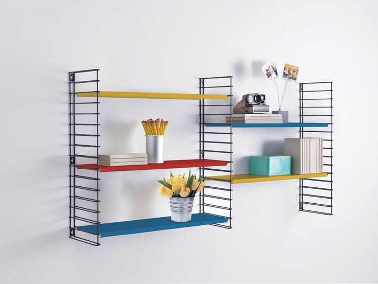 NEW! Tomado Bookshelf in original colors! New on our website! Order now, exclusively on Tomado.nl! Mondriaan colors, blue, red and blue. Limited Edition! Presented as 2 shelves here, as easy as the black-white versions!