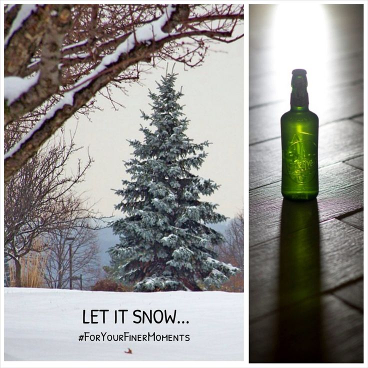 Let it snow it's winter time! #TasteTheMoment #ForYourFinerMoments